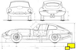 Jaguar E-Type Coupe drawing