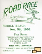 WebCars!: Pebble Beach Concours d'Elegance 1950 event poster