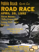 WebCars!: Pebble Beach Concours d'Elegance 1952 event poster